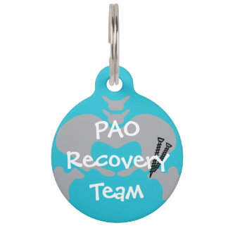 PAO Recovery Team Dog Tag with Customizable Name Pet Nametag