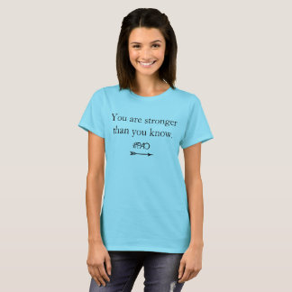 """PAO Recovery Tee """"You are stronger than you know"""""""