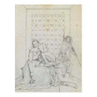 Paolo and Francesca by Jean Dominique Ingres Postcard