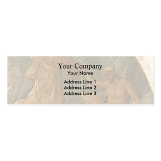 Paolo Uccello Creation of Adam Business Card Template