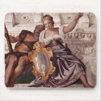 Paolo Veronese Prudence and Manly Virtue Mousepads