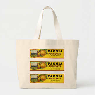 Paonia Apricots Label Art Jumbo Tote Bag