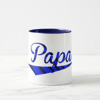 papa baseball fan dad father's day gift idea mug