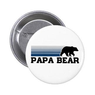 Papa Bear 6 Cm Round Badge