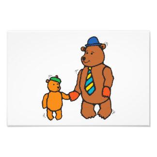 Papa bear and son cartoon photo
