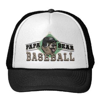 Papa Bear Baseball by Mudge Studios Cap
