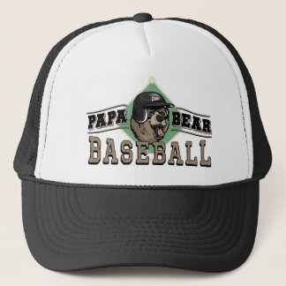 Papa Bear Baseball by Mudge Studios Trucker Hat