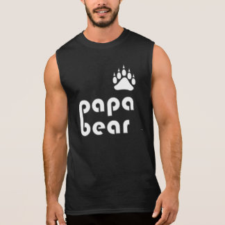 Papa Bear Bear Paw (White) Shirts