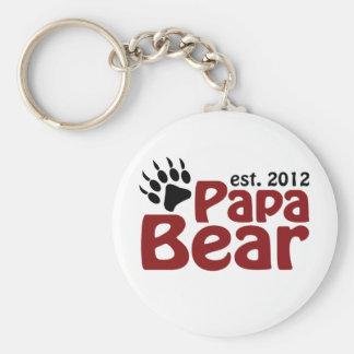 papa bear claw 2012 basic round button key ring
