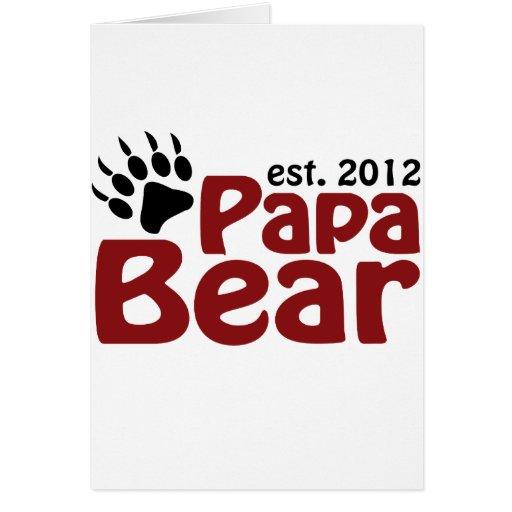 papa bear claw 2012 greeting card
