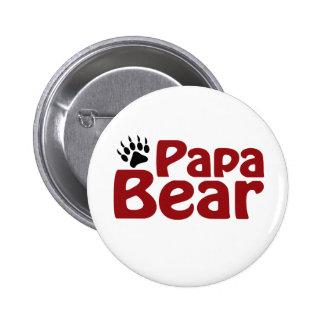 Papa Bear Claw 6 Cm Round Badge