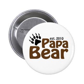 papa bear claw est 2010 buttons