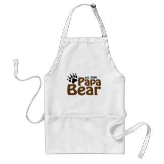 papa bear claw est 2010 standard apron