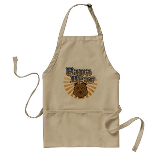 Papa Bear, Cool Fathers Day Vintage Look Aprons