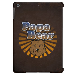 Papa Bear, Cool Fathers Day Vintage Look Cover For iPad Air