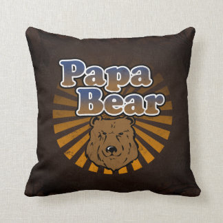 Papa Bear, Cool Fathers Day Vintage Look Cushions