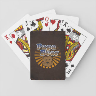 Papa Bear, Cool Fathers Day Vintage Look Deck Of Cards