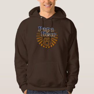Papa Bear, Cool Fathers Day Vintage Look Hoody