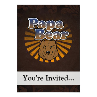Papa Bear, Cool Fathers Day Vintage Look Cards