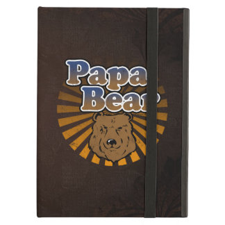 Papa Bear, Cool Fathers Day Vintage Look iPad Air Cases