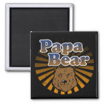 Papa Bear, Cool Fathers Day Vintage Look Fridge Magnet