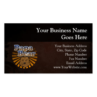 Papa Bear, Cool Fathers Day Vintage Look Pack Of Standard Business Cards