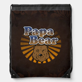 Papa Bear, Cool Fathers Day Vintage Look Backpacks