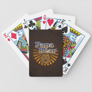 Papa Bear, Cool Fathers Day Vintage Look Poker Deck