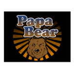Papa Bear, Cool Fathers Day Vintage Look Post Card