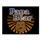Papa Bear, Cool Fathers Day Vintage Look Postcard