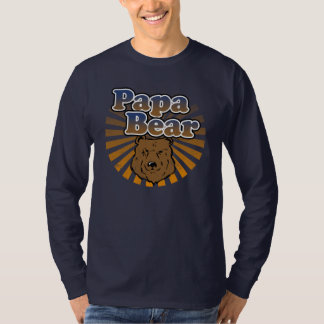 Papa Bear, Cool Fathers Day Vintage Look Tees