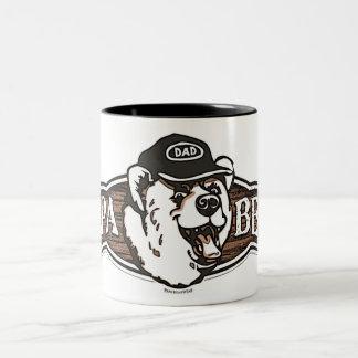 Papa Bear Dad Two-Tone Mug