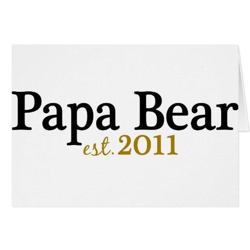 Papa Bear est 2011 Card