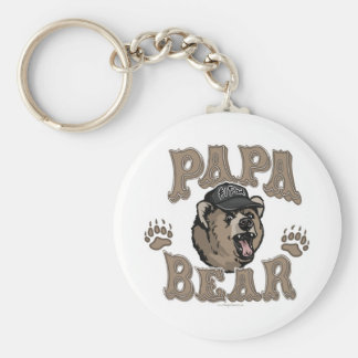 Papa Bear Father's Day Gear Basic Round Button Key Ring