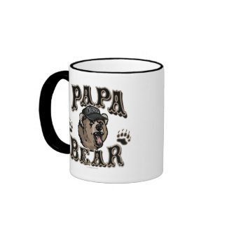 Papa Bear Father's Day Gear Ringer Mug