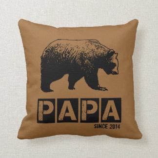 Papa Bear for Dad 2014, Grunge Black Cushion