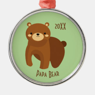 Papa Bear Fostering Love Merry Christmas Dated Christmas Ornament