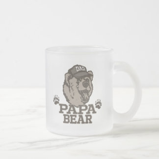 Papa Bear Gift Ideas for Dad Frosted Glass Mug