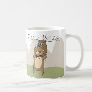 Papa Bear Gift Mug, Father's Day Or Birthday Dad Basic White Mug