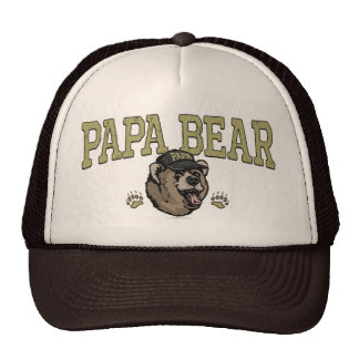 Papa Bear Gifts for Dad Trucker Hats