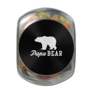 Papa Bear Glass Jars
