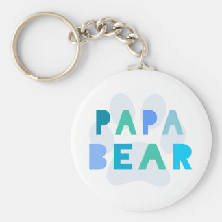 Papa bear key ring