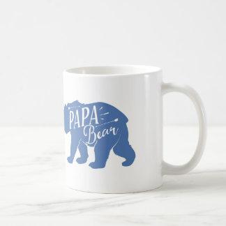 Papa Bear Mug, Papa Bear Cup, dad or papa gift, Basic White Mug