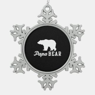 Papa Bear Pewter Snowflake Decoration