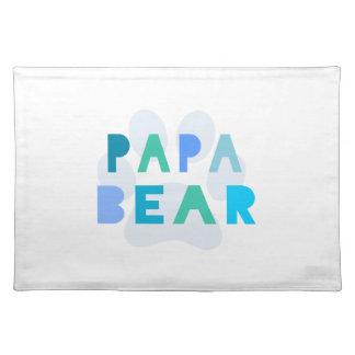 Papa bear place mats