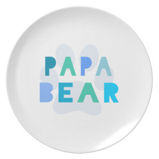 Papa bear dinner plates