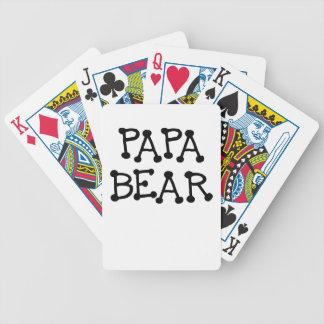PAPA BEAR png Bicycle Poker Deck