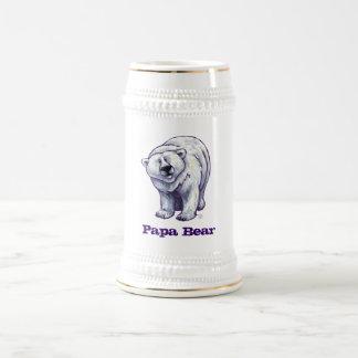 Papa Bear Polar Bear Stein Mugs