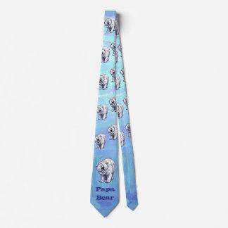 Papa Bear Polar Bear Tie