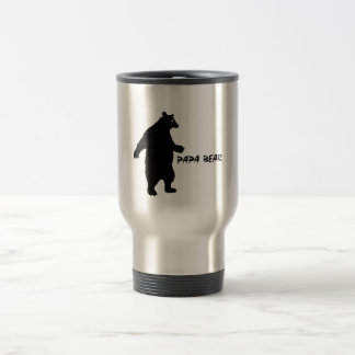 Papa Bear Stainless Steel Travel Mug